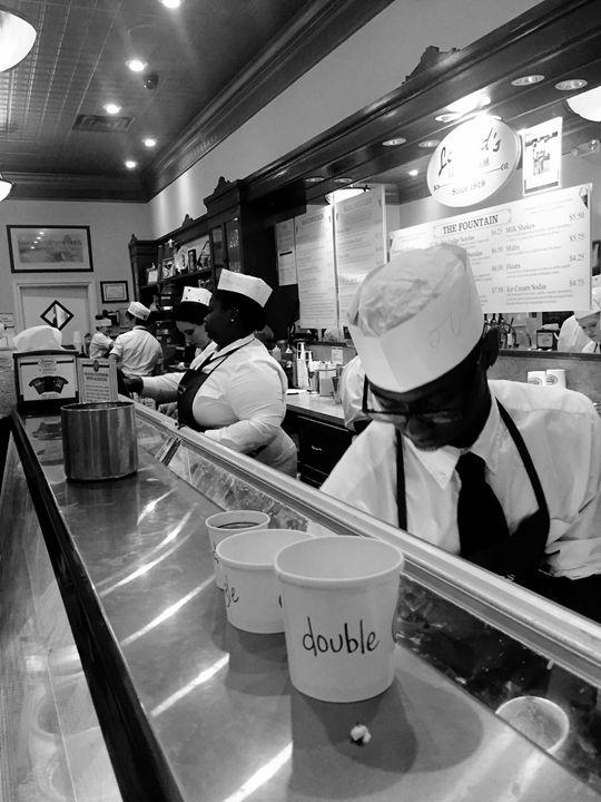 Ice Cream Shop B&W - Robin Lewis Gallery