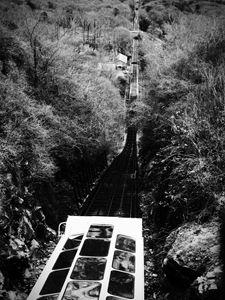 Rail Train black and white