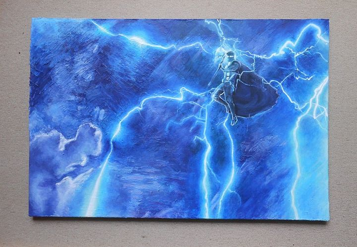 Lightning Thor, Original - LissyGaleArt