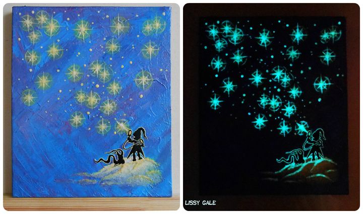 Star Elf, Glow in the dark - LissyGaleArt