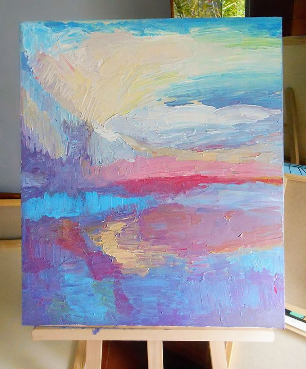 Abstract painting, FREE GIFT ;) - LissyGaleArt