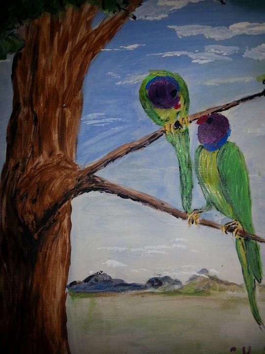 Wildly Ringnecks - Tami Parrington Fine Art