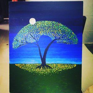 Abstract Moon light