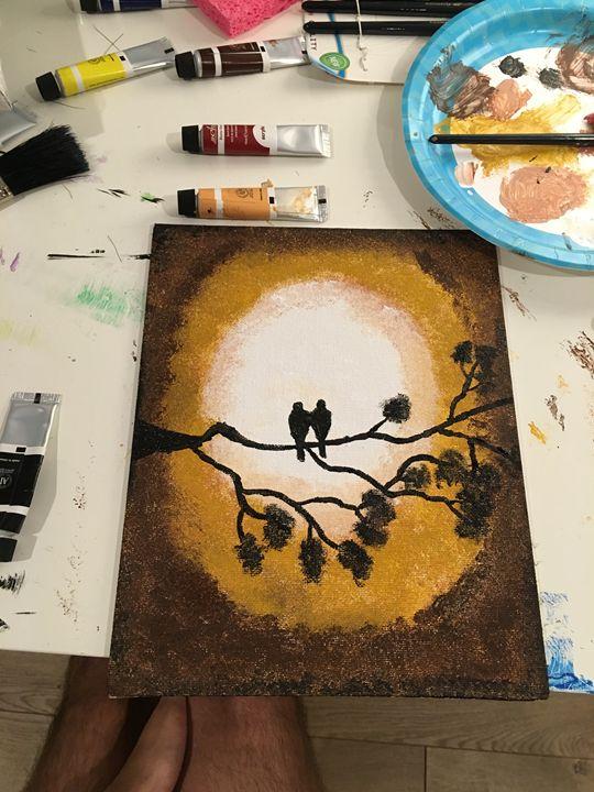Love-Birds - Dev's Stress releasing paintings