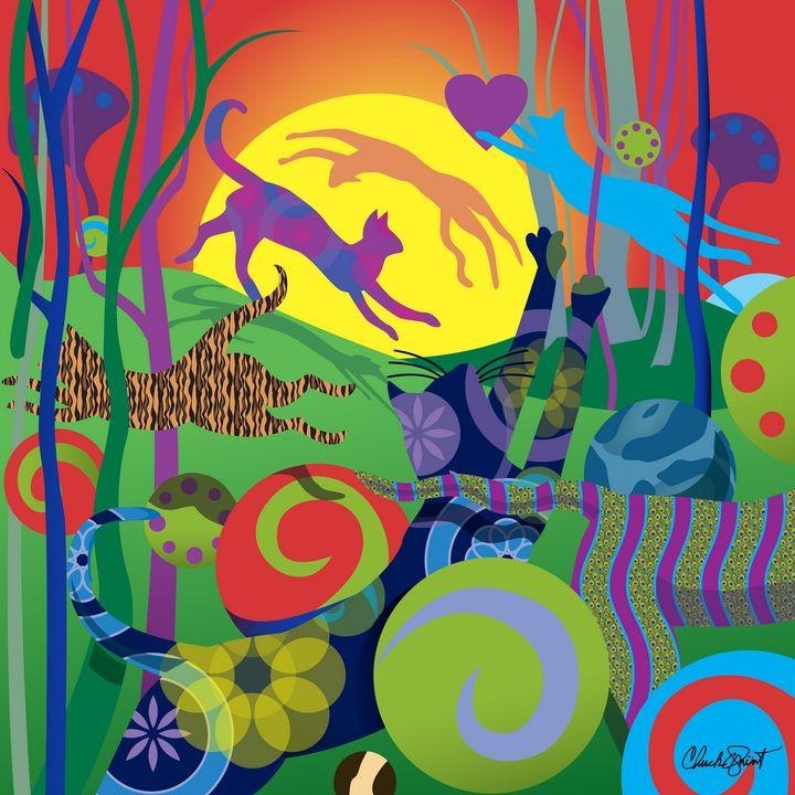 Daylight Romp - Chuck Quint Original Art Designs