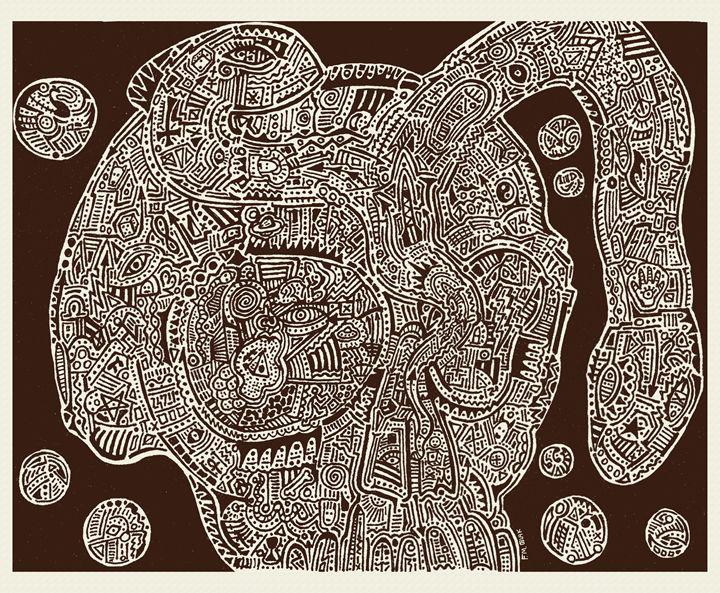 Skull Map of a Fantastic Landscape - Artwork of Frank Oblak