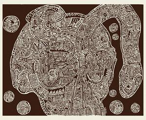 Skull Map of a Fantastic Landscape