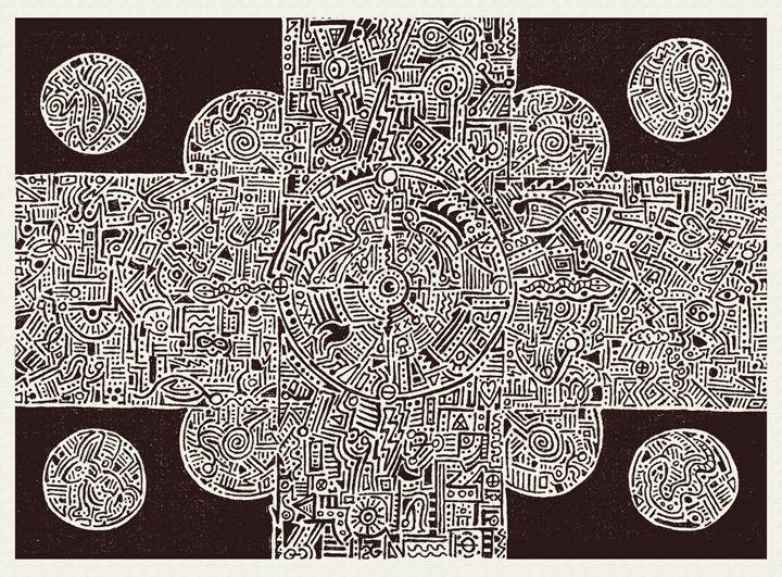 Electrochemical Mandala - Artwork of Frank Oblak