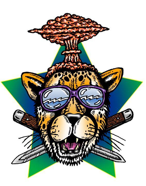 Street Walk'n Cheetah - Artwork of Frank Oblak