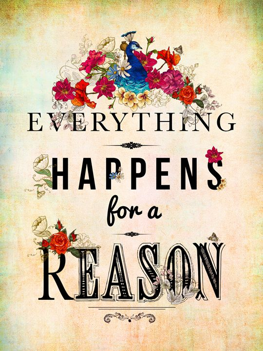 Everything Happens For A Reason - Chloe's Canvas