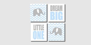 Four 8x10 Elephant Prints