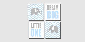 Four 8x10 Elephant Prints