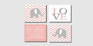 Four Elephant Prints 8x10