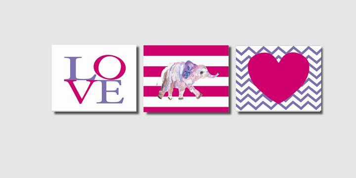Three 8x10 Elephant Heart Prints - Steffany Segar Designs