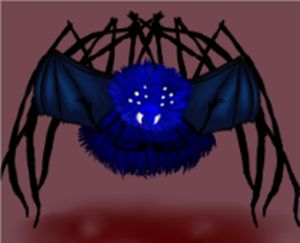 Blue Flying Demon Spider