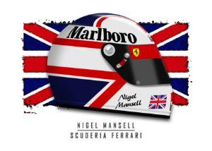 Nigel Mansell - 1990 Helmet