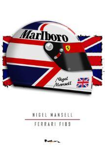 Nigel Mansell - F1 helmet F189