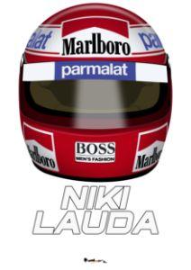 Niki Lauda - Front helmet