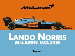 Lando Norris - Gulf McLaren