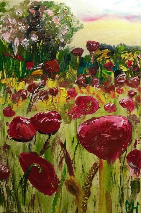 Poppy field - Mihkel Hollo