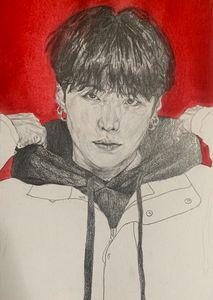 Drawing/watercolour of Min Yoongi