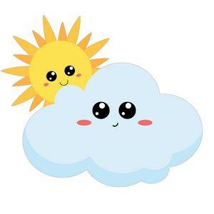 Cute Cloud and Sun