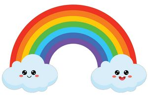 Cute ranibow, Kawaii Weather Clipart