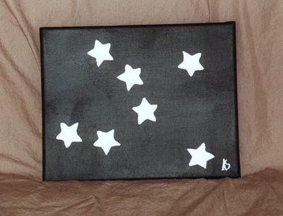 Black with White Stars - StarshineArt