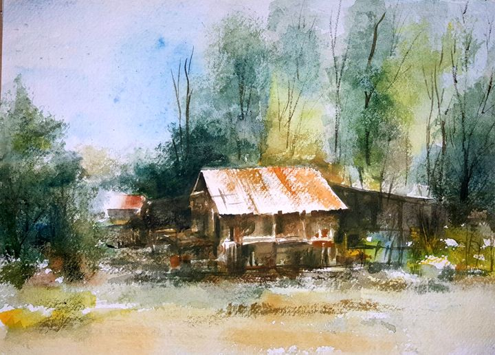 Red Roof - Bhanupratap's Art