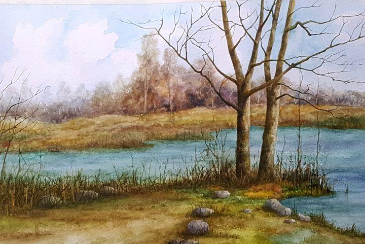 A bend in the River - Bhanupratap's Art