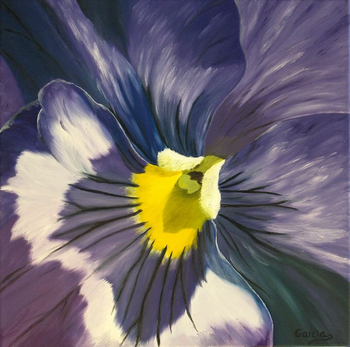 Purple Pansy - A Painted Canvas