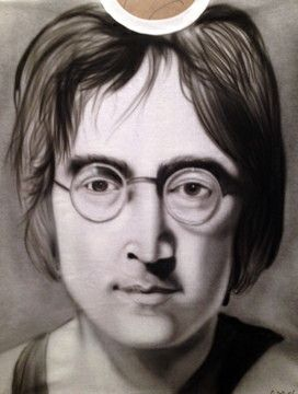 John Lennon portrait - Jeff's Art