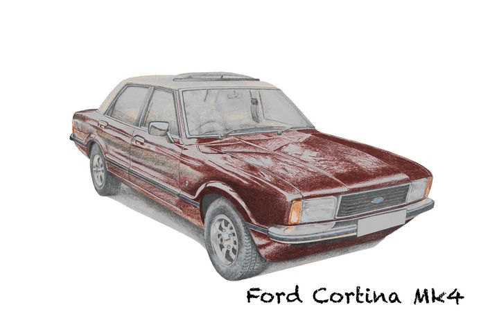 Ford Cortina Mk4 Ghia - BS Illustration