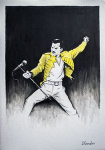 Freddie Mercury Illustration