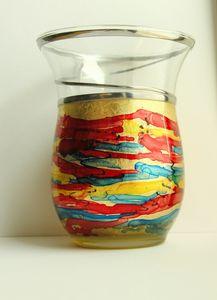 vase glass paint