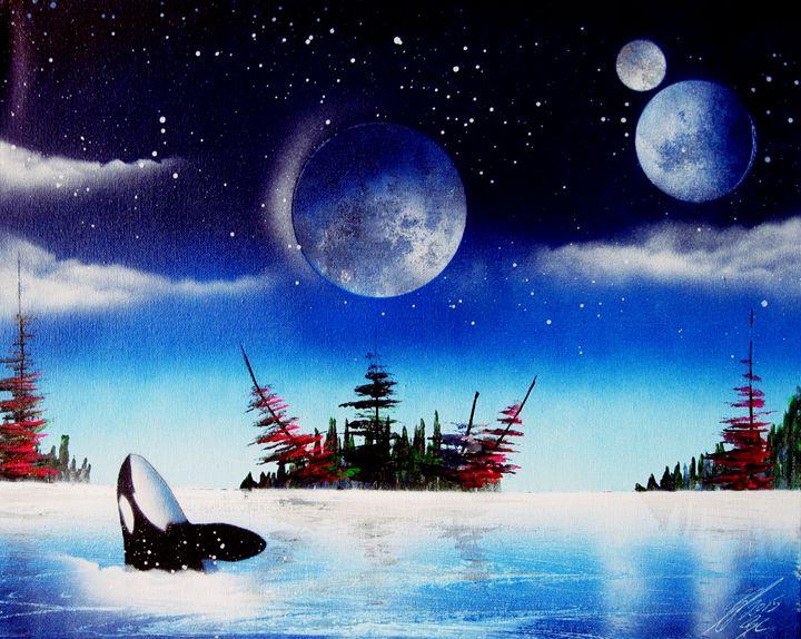 Mystic breaching whale - Art is Gold AU