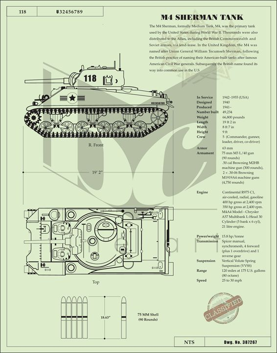 Sherman Tank - Bill Chodubski