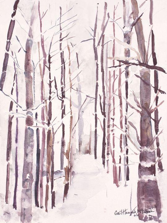 Trees in Snow - Gail H. McIntosh
