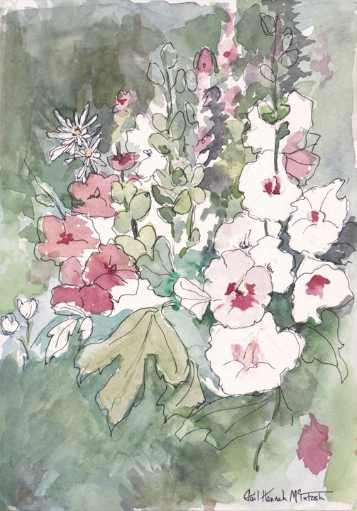 Pink and White Floral - Gail H. McIntosh