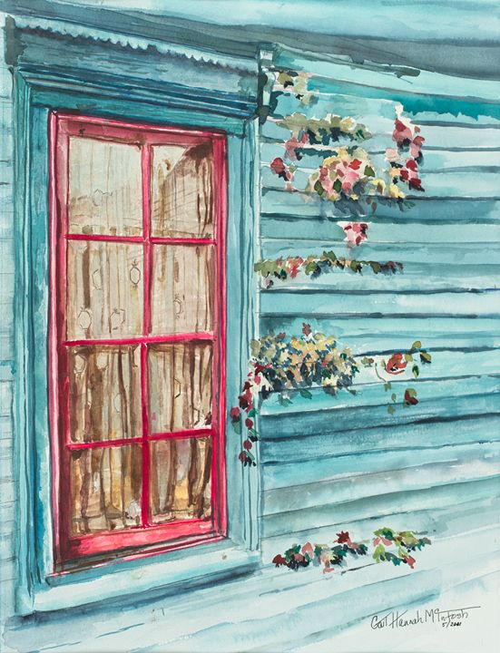 Window and Flowers - Gail H. McIntosh