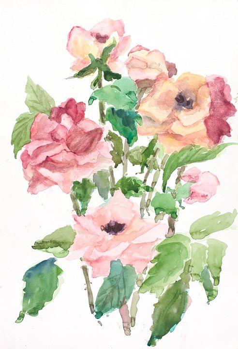 Pink Roses - Gail H. McIntosh