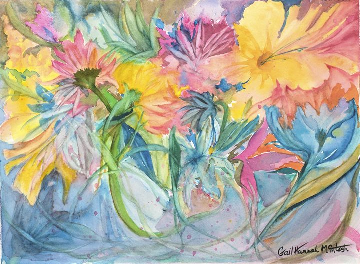 Tropical Flowers - Gail H. McIntosh