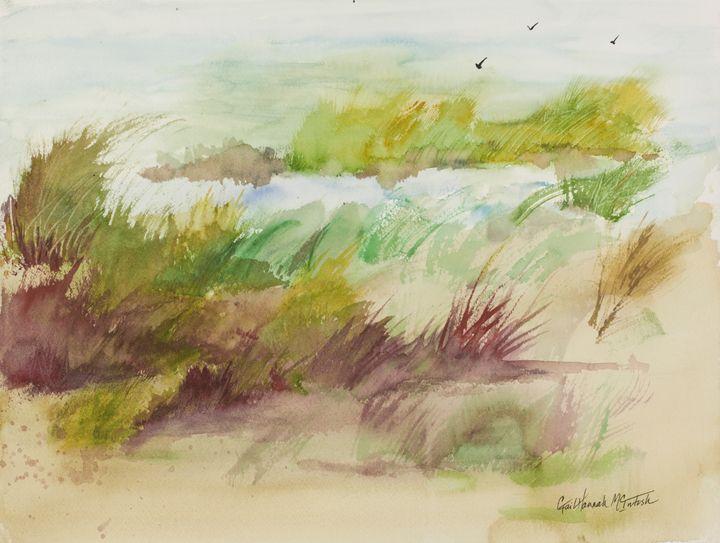 Brush on Beach - Gail H. McIntosh