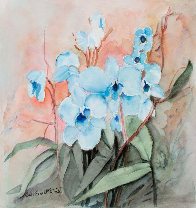 Reta's Blue Orchids - Gail H. McIntosh