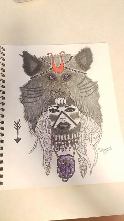 Native drawing - Tays drawings