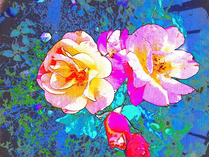 Resurrection Roses - Abstractly Abraham