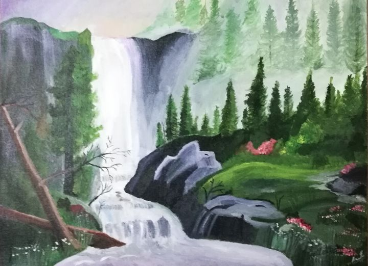 Scintillating waterfalla - Amritha's Art