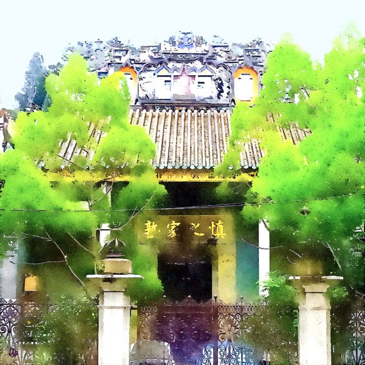 Penang Chinese Temple - Stacey C Art