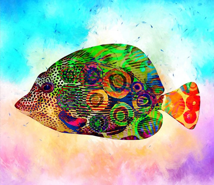 Colorful Tropical Fish - Stacey Art Prints