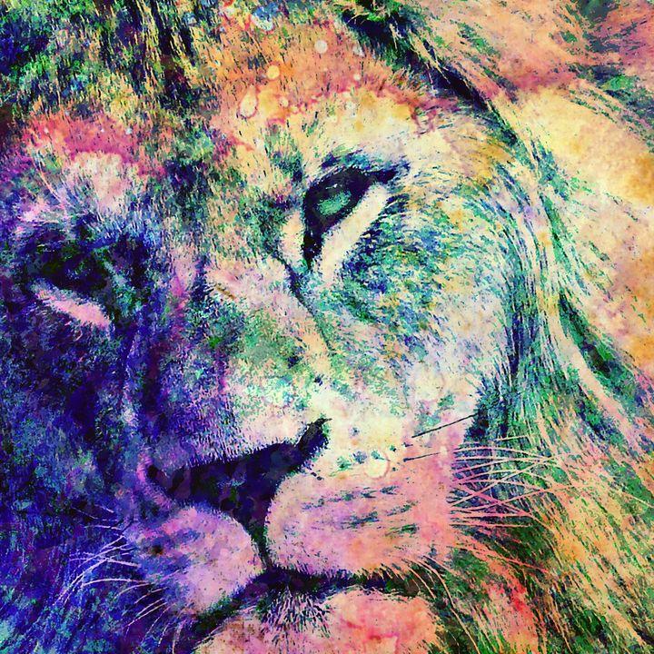 The Rainbow Lion - Stacey Art Prints